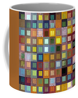 Coffee Mug featuring the digital art Squares In Squares One by Michelle Calkins