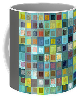 Coffee Mug featuring the digital art Squares In Squares Two by Michelle Calkins