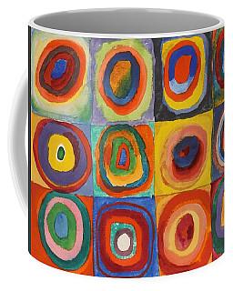 Squares With Concentric Circles Coffee Mug