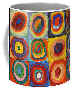 Squares With Concentric Circles Coffee Mug by Wassily Kandinsky