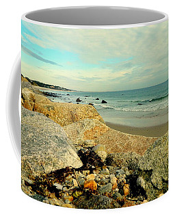 Squibby Cliffs And Mackerel Sky Coffee Mug