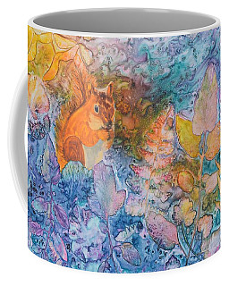 Coffee Mug featuring the painting Squirrel Hollow by Nancy Jolley
