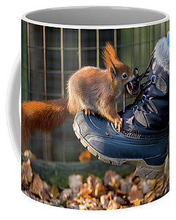 Squirrel On Boot  Coffee Mug