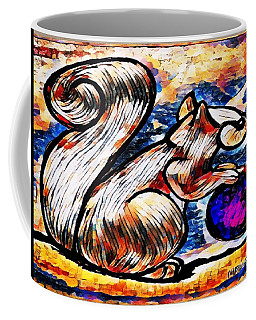 Squirrel With Christmas Ornament Coffee Mug