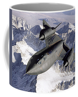 Sr-71b Blackbird In Flight Coffee Mug