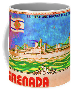 S.s Geestland And House Flag Geest Line Coffee Mug by Lanjee Chee