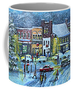 Snowing In Concord Center Coffee Mug