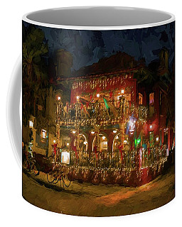 Coffee Mug featuring the photograph  St. Augustine Meehan's Pub by Louis Ferreira