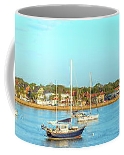 Coffee Mug featuring the photograph St Augustine Panorama by Sebastian Musial