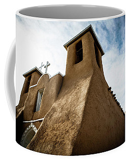 Coffee Mug featuring the photograph St. Francis Church Taos by Marilyn Hunt
