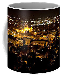 St Helena Cathedral And Helena By Night Coffee Mug