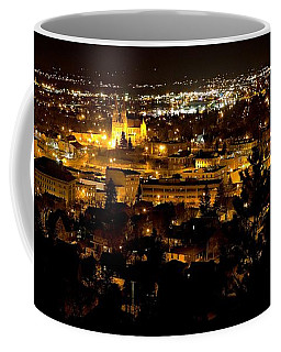 St Helena Cathedral And Helena By Night Coffee Mug
