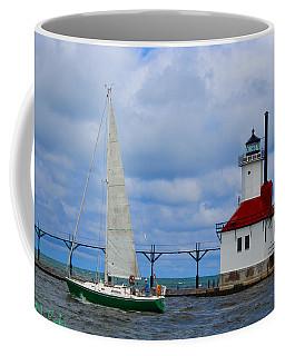 St. Joseph Lighthouse Sailboat Coffee Mug