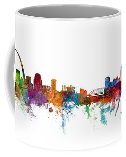 St Louis And Pittsburgh Skyline Mashup Coffee Mug