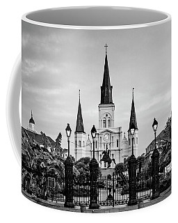 St. Louis Cathedral In Black And White Coffee Mug