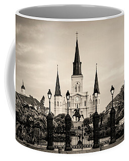 St. Louis Cathedral Sepia Coffee Mug