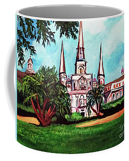 St. Louis Cathedral New Orleans Art Coffee Mug by Ecinja Art Works