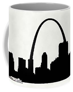 St Louis Silhouette With Boats 2 Coffee Mug