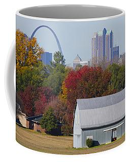 St Louis Skyline From Illinois Coffee Mug