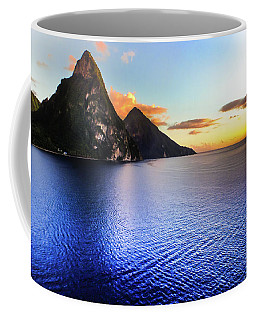 Coffee Mug featuring the photograph St. Lucia's Cobalt Blues by Karen Wiles