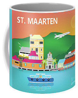 St. Maarten Digital Art Coffee Mugs