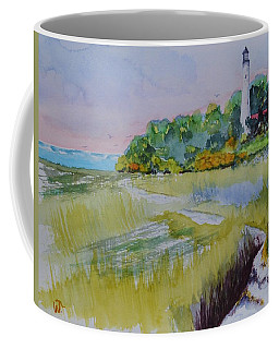St. Marks Lighthouse Beachfront Coffee Mug
