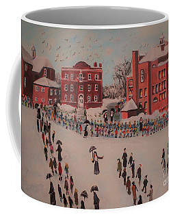 Coffee Mug featuring the painting St Mary's First Friday Mass by Rita Brown