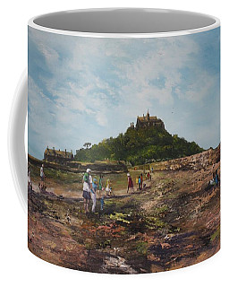 Coffee Mug featuring the painting St Michaels Mount Cornwalll by Jean Walker