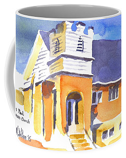 Coffee Mug featuring the painting St. Paul Lutheran 3 Impressions by Kip DeVore