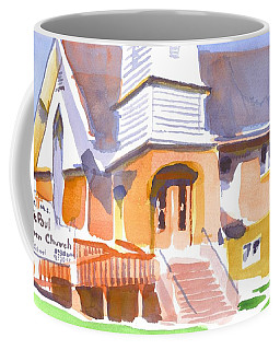 Coffee Mug featuring the painting St. Paul Lutheran Ironton Missouri by Kip DeVore