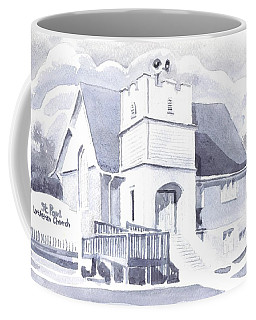 Coffee Mug featuring the painting St. Paul Lutheran Church 2 by Kip DeVore