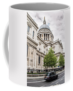 St Pauls Cathedral With Black Taxi Coffee Mug