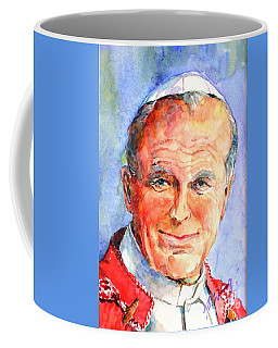 St. Pope Paul John II Coffee Mug by Betty M M Wong