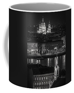 St Stephens Basilica Night Bw Coffee Mug