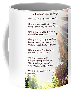St Therese Of Lisieux Prayer And True Light Lower Emerald Pools Zion Coffee Mug
