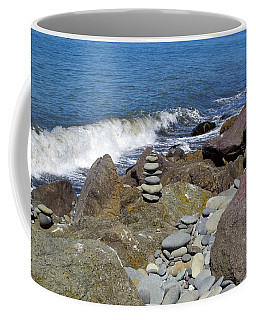 Coffee Mug featuring the photograph Stacked Against The Waves by Tikvah's Hope