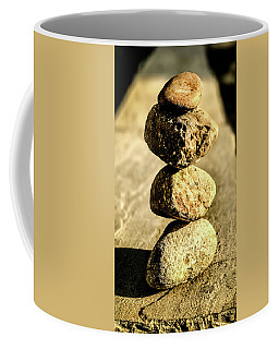 Coffee Mug featuring the photograph Stacked Rocks by Onyonet  Photo Studios