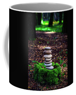 Coffee Mug featuring the photograph Stacked Stones And Fairy Tales Iv by Marco Oliveira