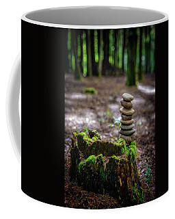 Coffee Mug featuring the photograph Stacked Stones And Fairy Tales by Marco Oliveira