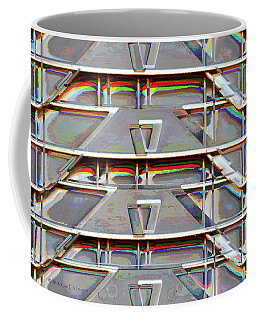Stacked Storage Crates Abstract Coffee Mug