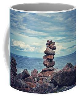 Stacked Zen Coffee Mug by Karen Stahlros