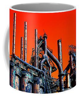 Stacks Of Steel Pop Art In Bethlehem Coffee Mug