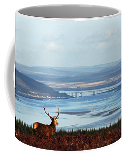 Stag Overlooking The Beauly Firth And Inverness Coffee Mug