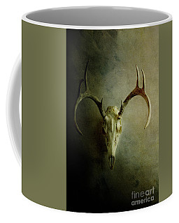 Stag Skull Coffee Mug by Stephanie Frey