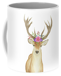 Stag Watercolor  Coffee Mug by Taylan Apukovska