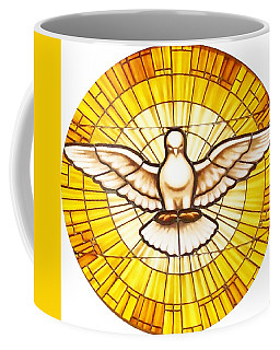 Stain Glass Dove Coffee Mug by Joseph Frank Baraba