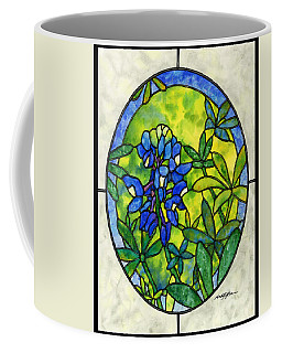 Stained Glass Bluebonnet Coffee Mug