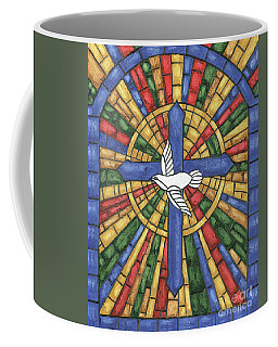 Stained Glass Cross Coffee Mug