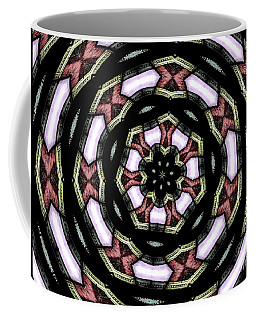 Coffee Mug featuring the photograph Stained Glass Kaleidoscope 12 by Rose Santuci-Sofranko