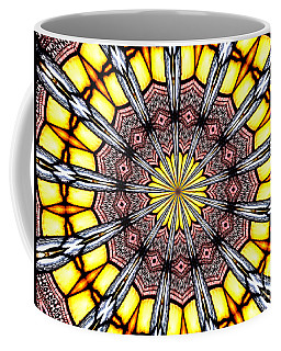 Coffee Mug featuring the photograph Stained Glass Kaleidoscope 23 by Rose Santuci-Sofranko